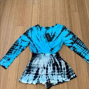NWT Blue Tie Dye romper